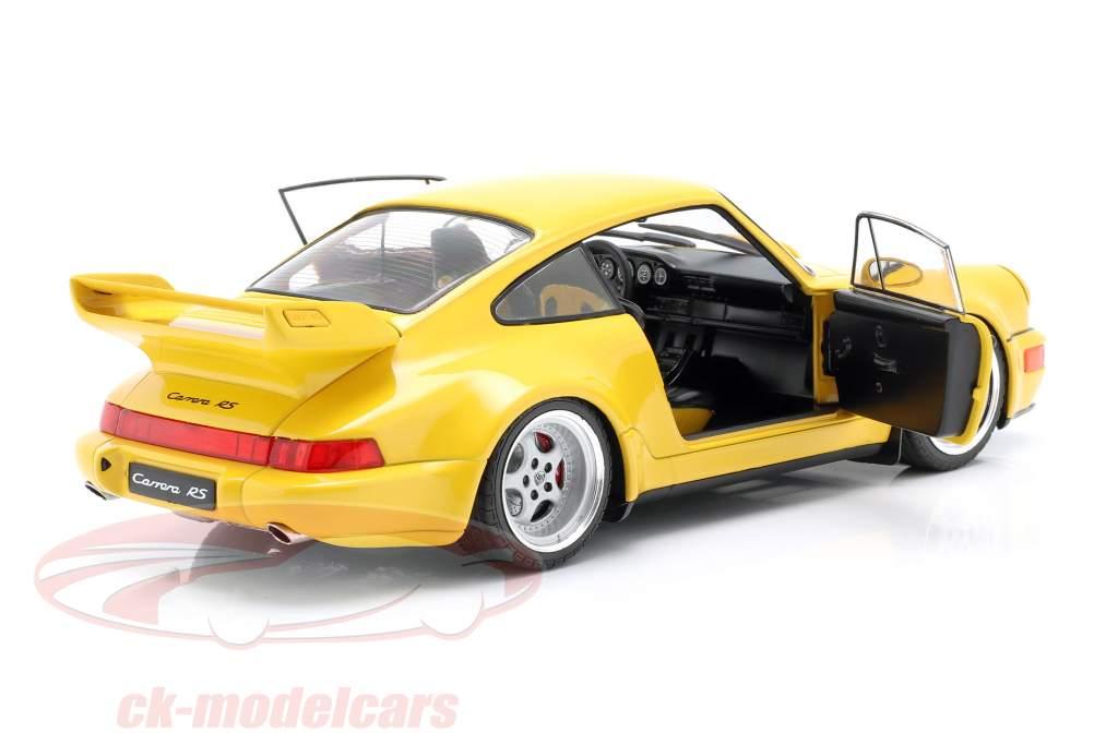 Porsche 911 (964) 3.8 RS Année de construction 1990 vitesse jaune 1:18 Solido