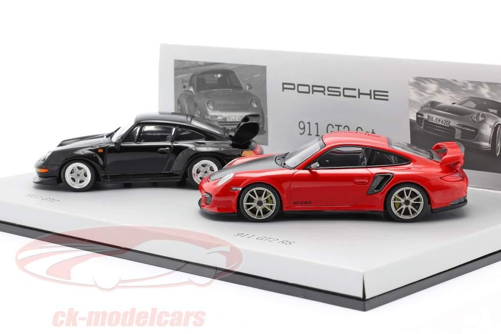 RS Porsche 911 GT2 Set 993 & 997 Minichamps 1:43