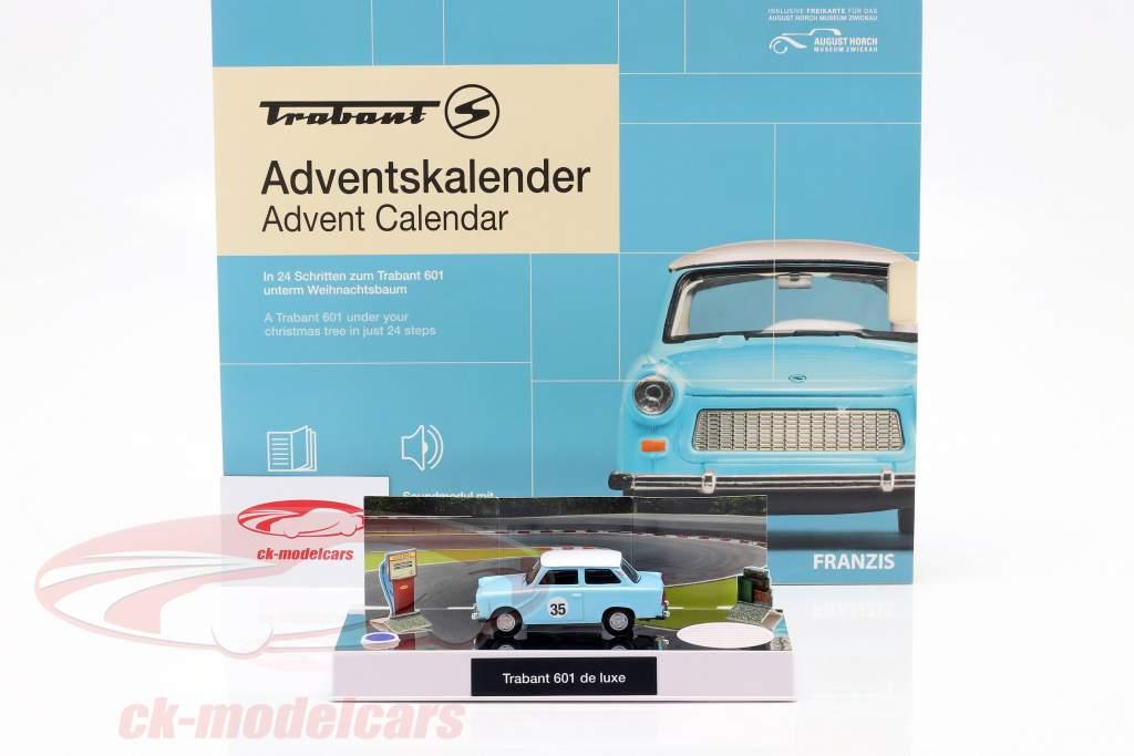 Trabant calendario dell'avvento 2020: Trabant 601 blu 1:43 Franzis
