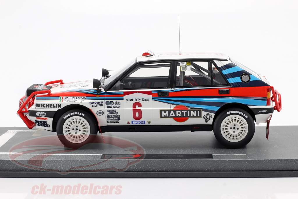 Lancia Delta Integrale HF #6 Winner Safari Rallye 1988 Bision, Siviero 1:18 BBR