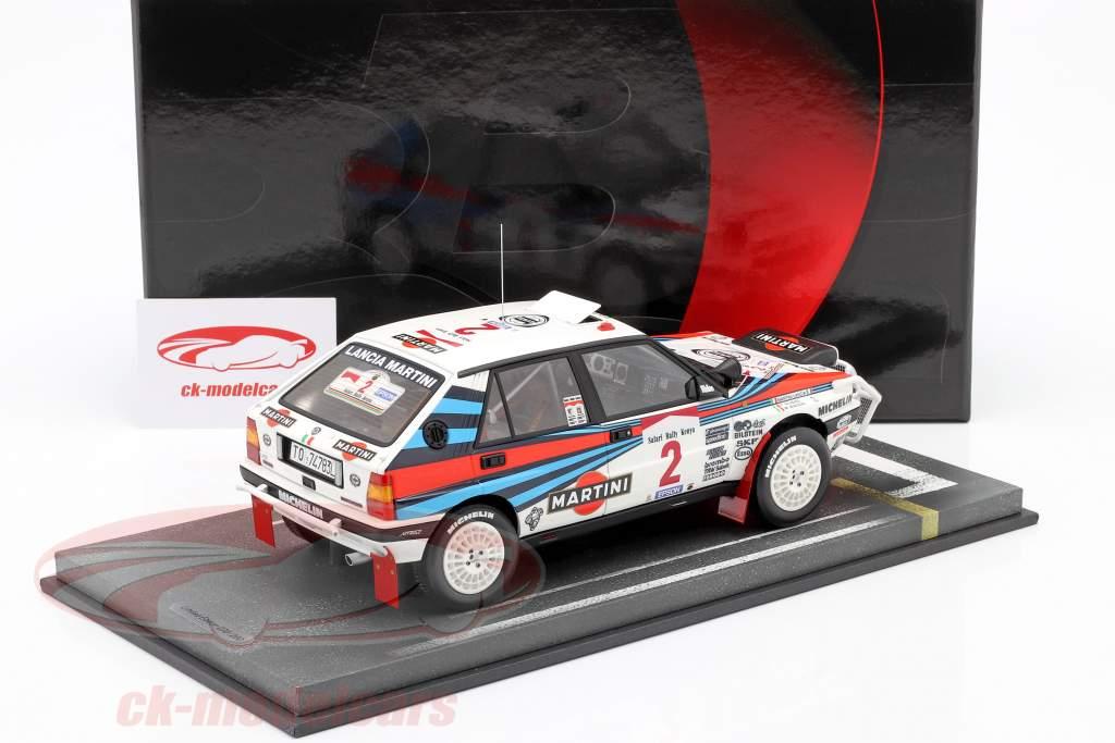 Lancia Delta Integrale HF #2 ganador Safari Rallye 1989 1:18 BBR