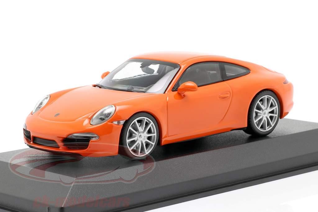 Porsche 911 (991) Carrera S anno di costruzione 2012 arancione 1:43 Minichamps