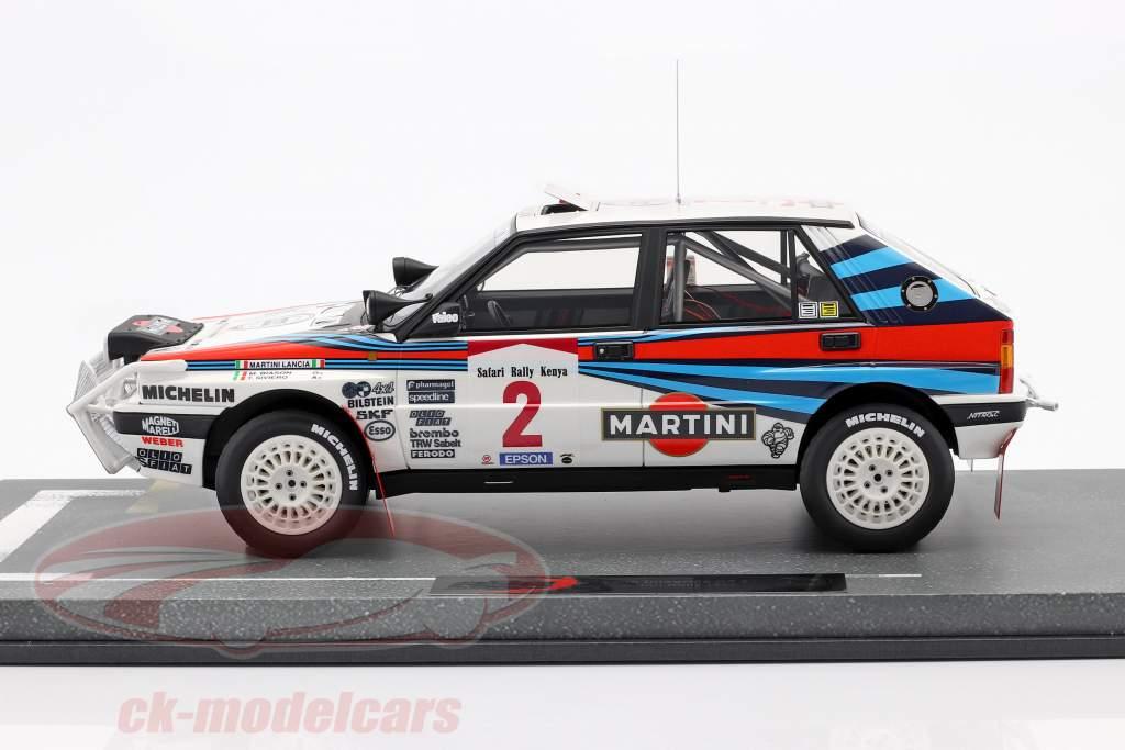 Lancia Delta Integrale HF #2 gagnant Safari Rallye 1989 1:18 BBR