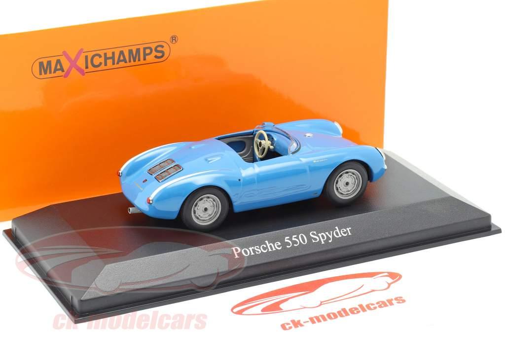 Porsche 550 Spyder Opførselsår 1955 lyseblå 1:43 Minichamps