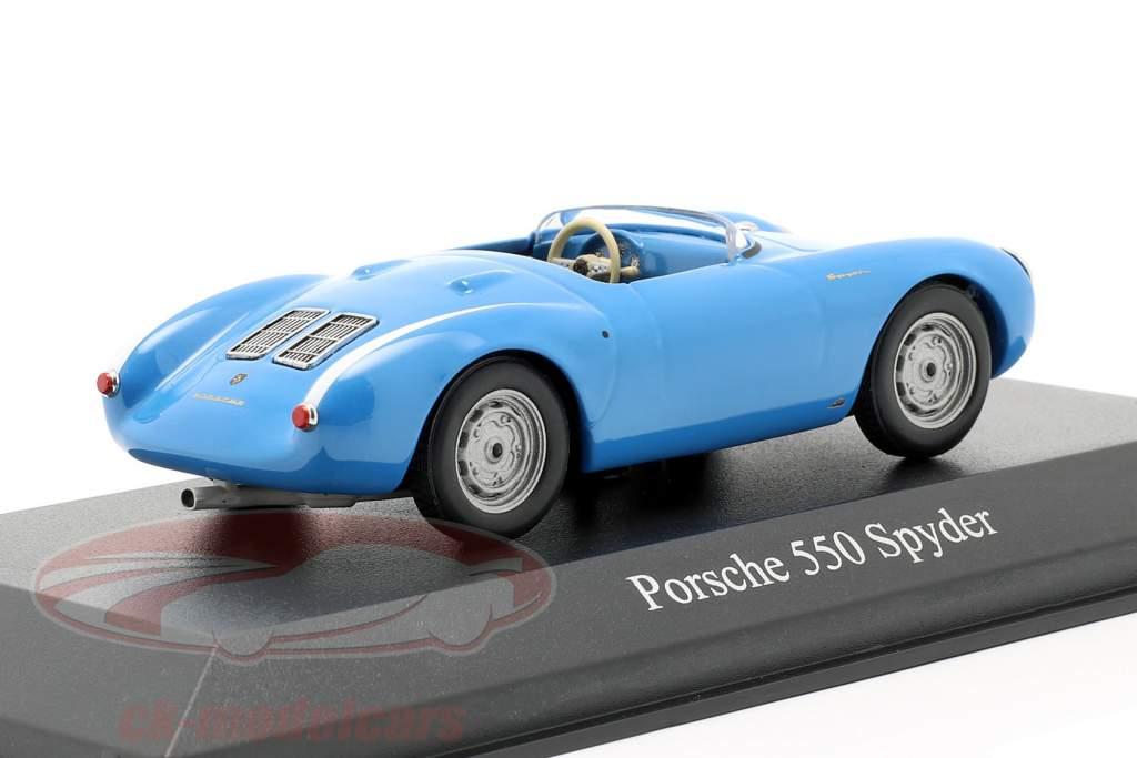 Porsche 550 Spyder year 1955 Light Blue 1:43 Minichamps