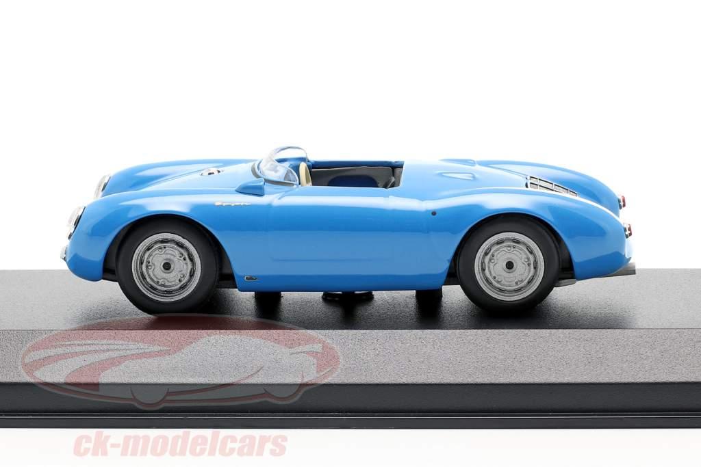 Porsche 550 Spyder año de construcción 1955 azul claro 1:43 Minichamps
