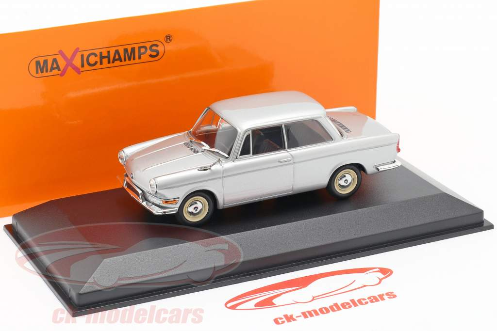 BMW 700 LS jaar 1960 zilver 1:43 Minichamps