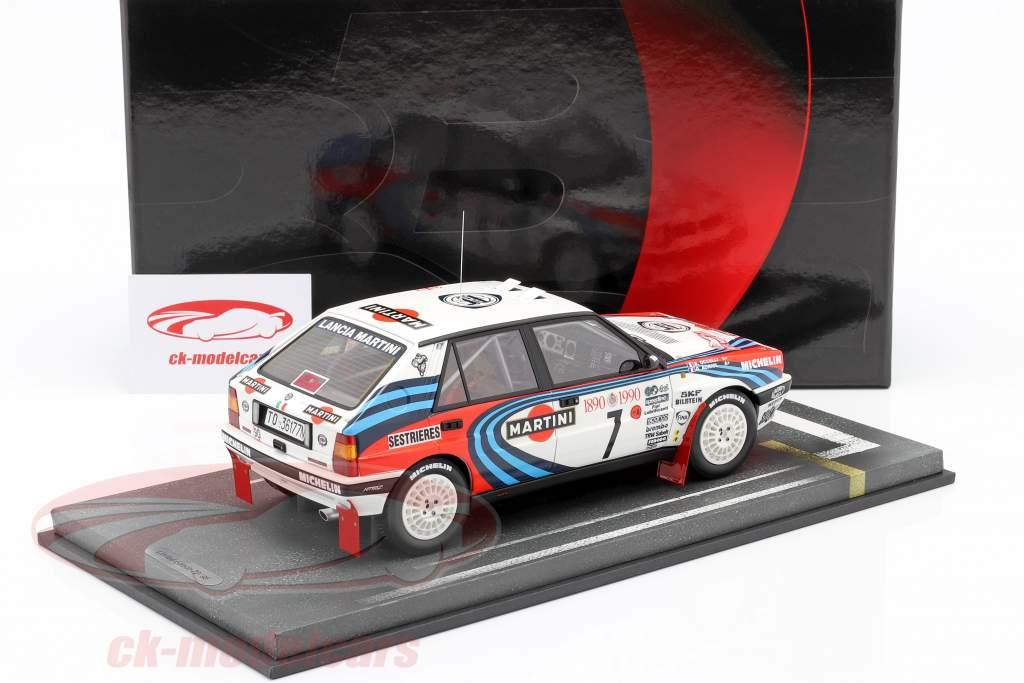 Lancia Delta Integrale HF #7 Sieger Rallye Monte Carlo 1990 Auriol, Occelli 1:18 BBR