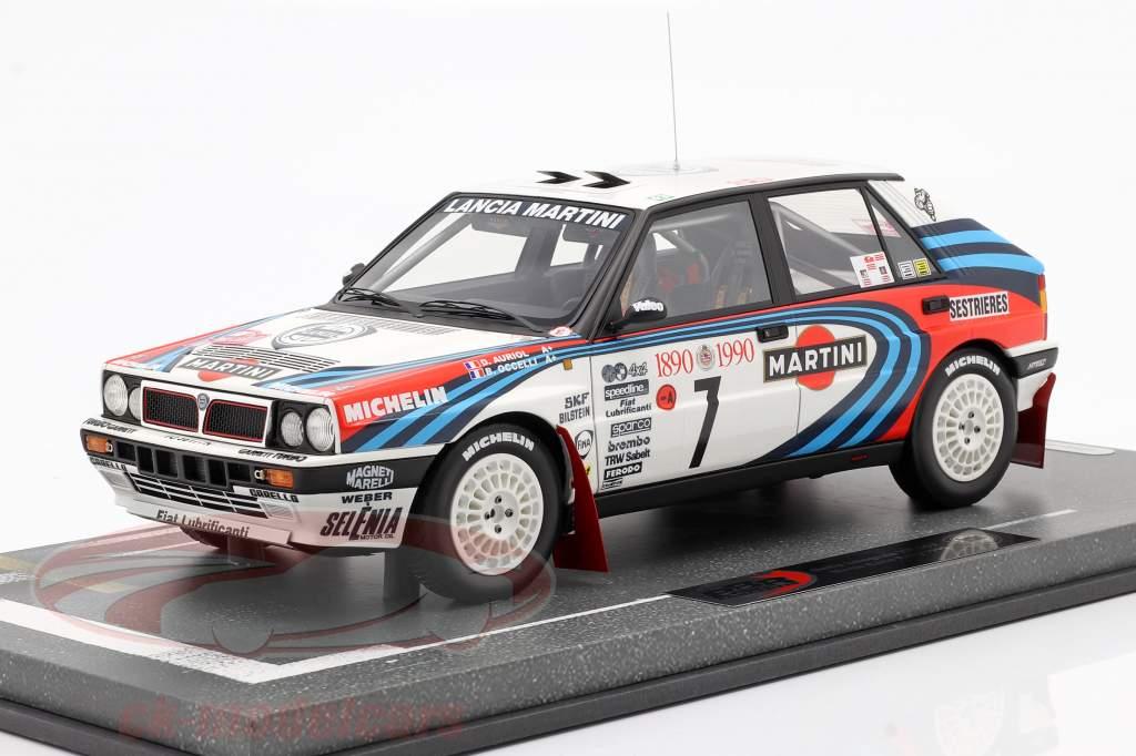 Lancia Delta Integrale HF #7 gagnant Rallye Monte Carlo 1990 Auriol, Occelli 1:18 BBR