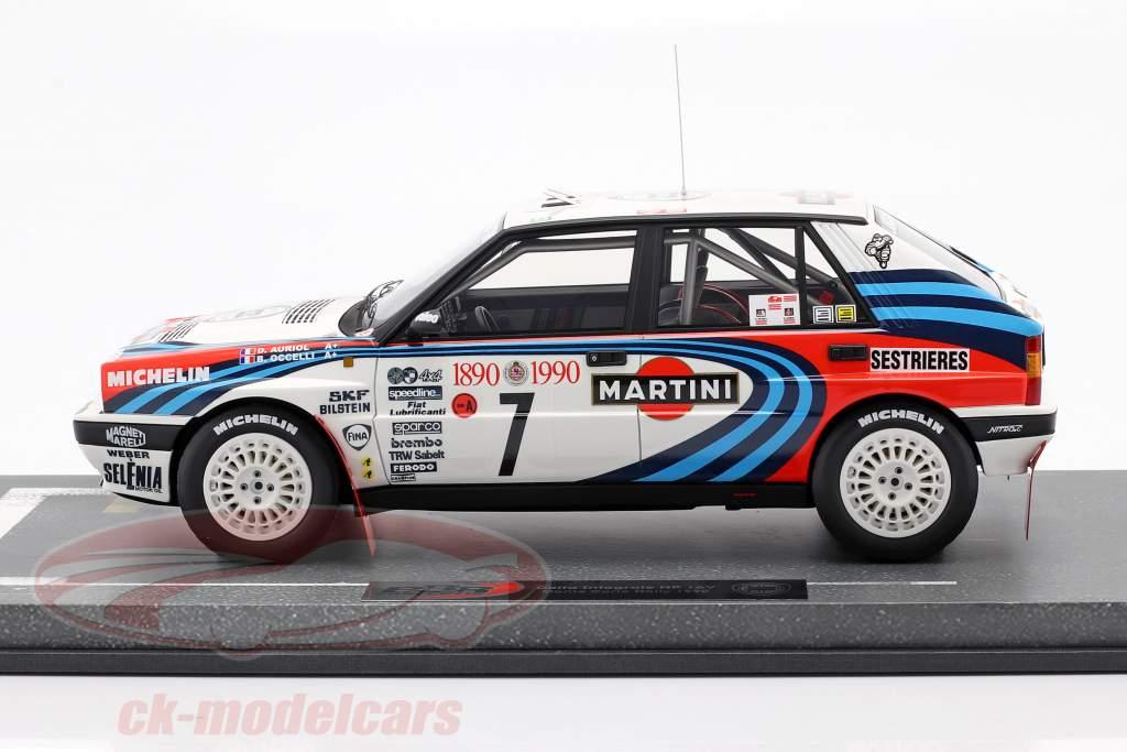 Lancia Delta Integrale HF #7 vencedora Rallye Monte Carlo 1990 Auriol, Occelli 1:18 BBR