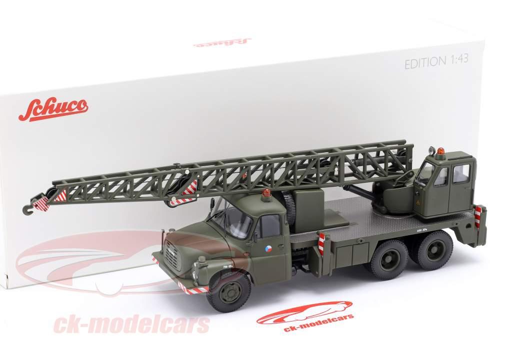 Tatra T148 Camión grúa militar CSSR aceituna oscura 1:43 Schuco
