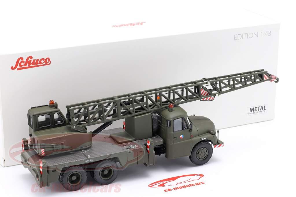 Tatra T148 Crane truck military CSSR dark olive 1:43 Schuco