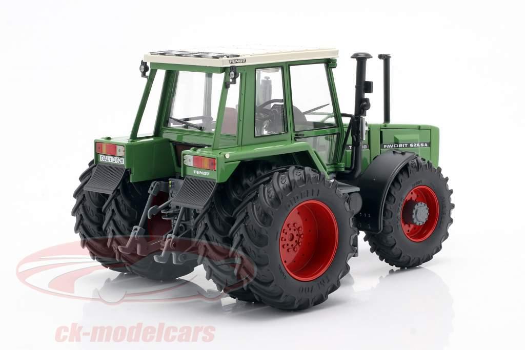 Fendt Favorit 626 LSA tracteur Avec Pneus doubles 1981-1985 vert 1:32 Schuco