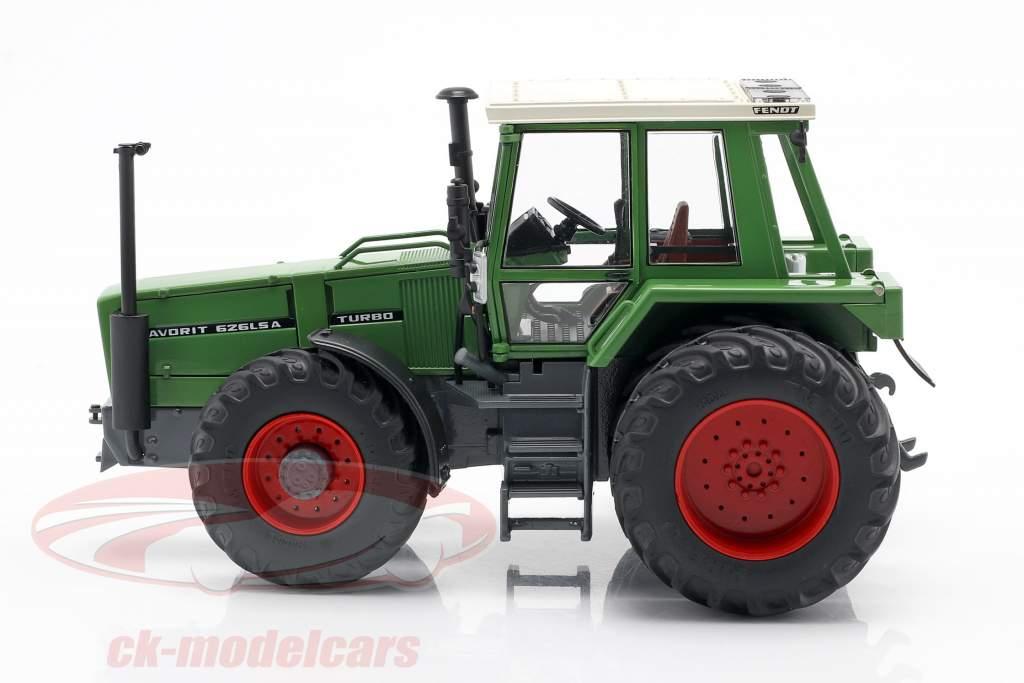 Fendt Favorit 626 LSA tractor Con Neumáticos dobles 1981-1985 verde 1:32 Schuco