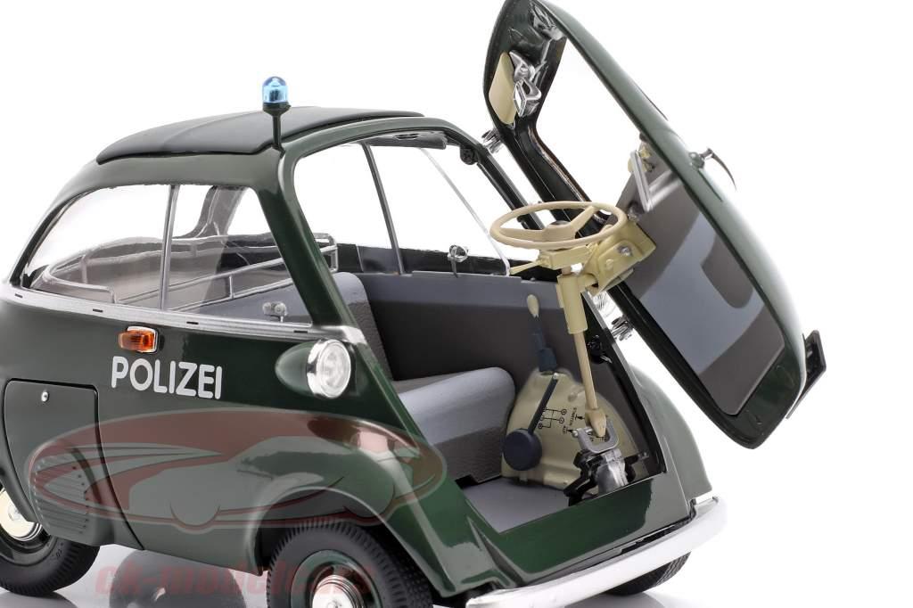 BMW Isetta Export police year 1955 - 1962 dark green 1:18 Schuco