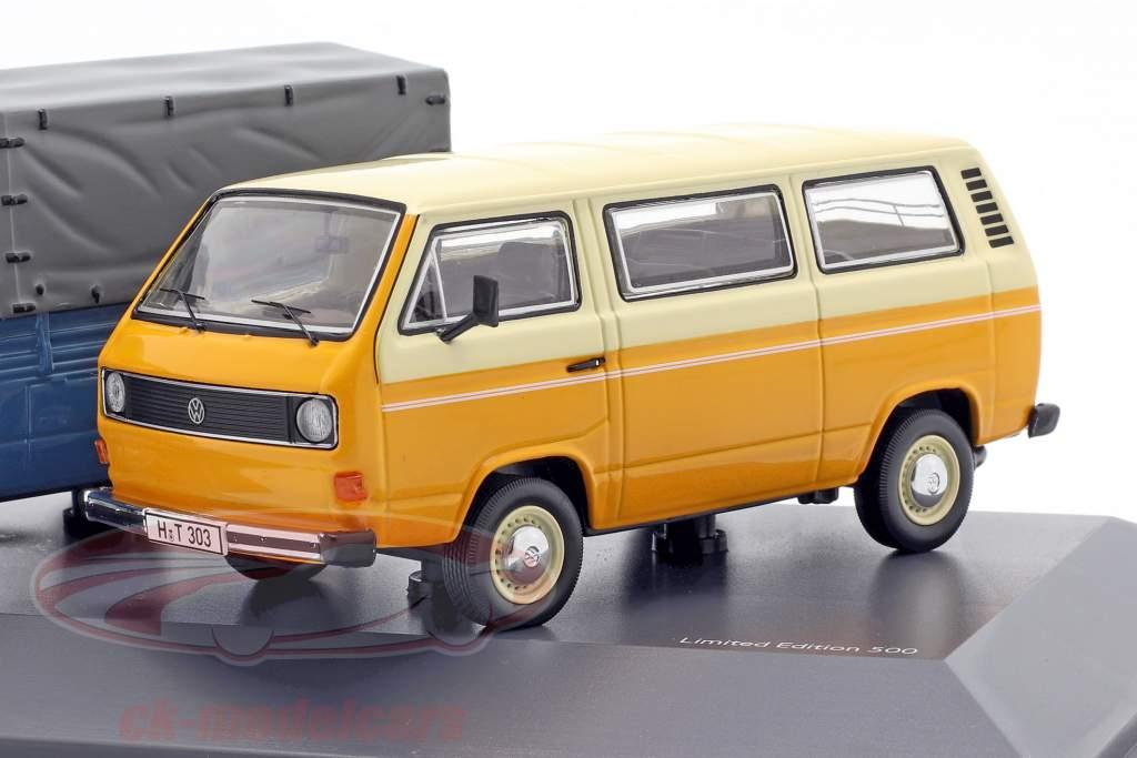 3-Car Set: 40 Jaren Volkswagen VW T3 Bus 1:43 Schuco
