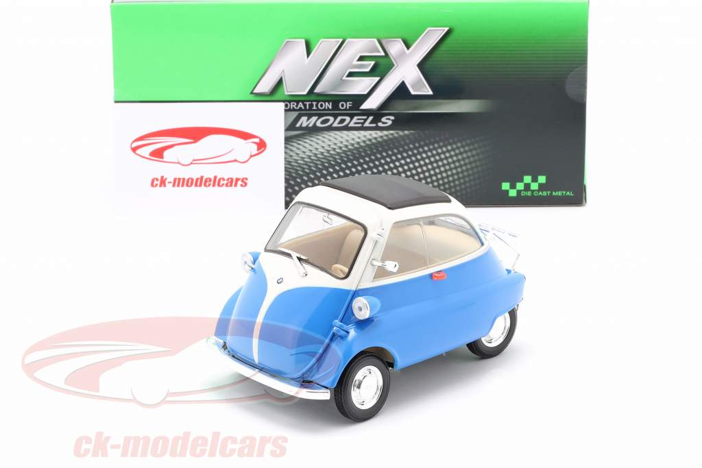 BMW Isetta 250 year 1959 blue / white 1:18 Welly