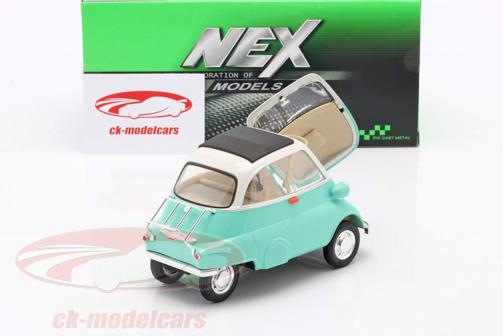BMW Isetta 250 year 1959 turquoise / white 1:18 Welly