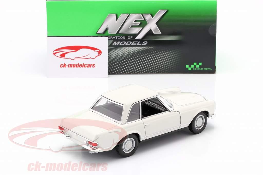 Mercedes-Benz 230 SL (W113) Hardtop Byggeår 1963 hvid 1:24 Welly