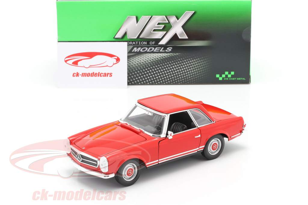 Mercedes-Benz 230 SL (W113) Hardtop year 1963 red 1:24 Welly