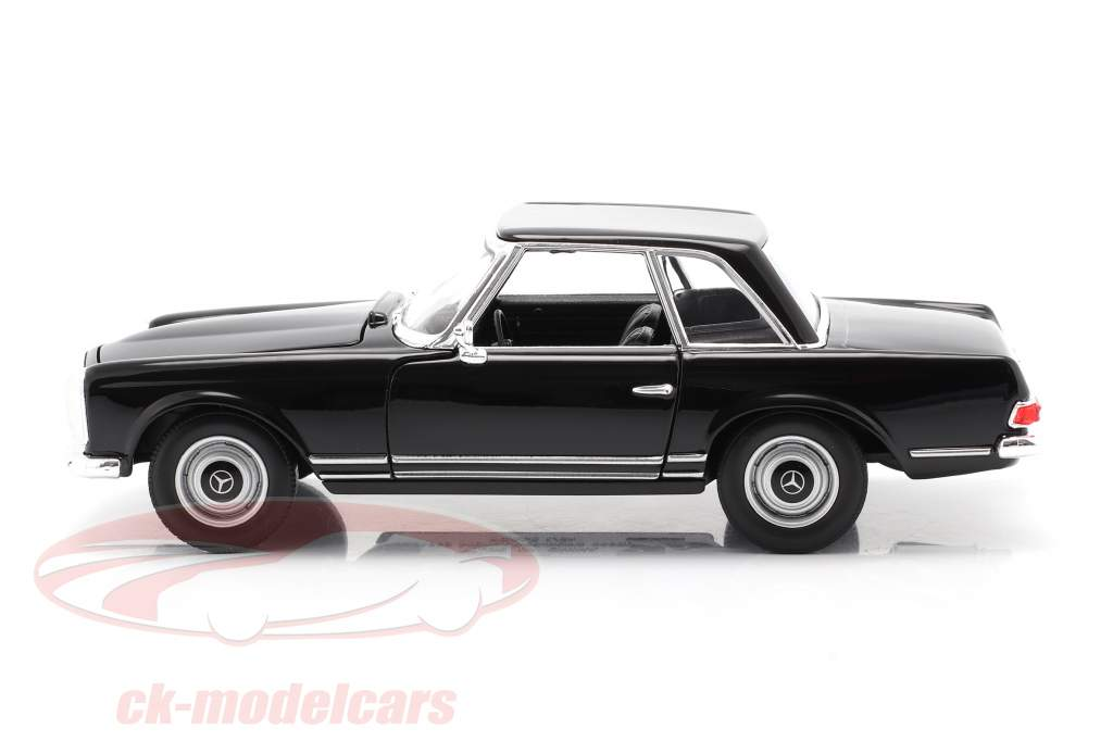 Mercedes-Benz 230 SL (W113) Hardtop Baujahr 1963 schwarz 1:24 Welly