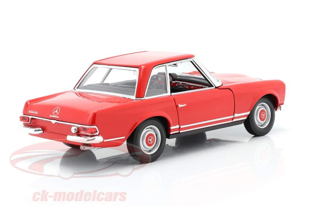 Mercedes-Benz 230 SL (W113) Hardtop Année de construction 1963 rouge 1:24 Welly