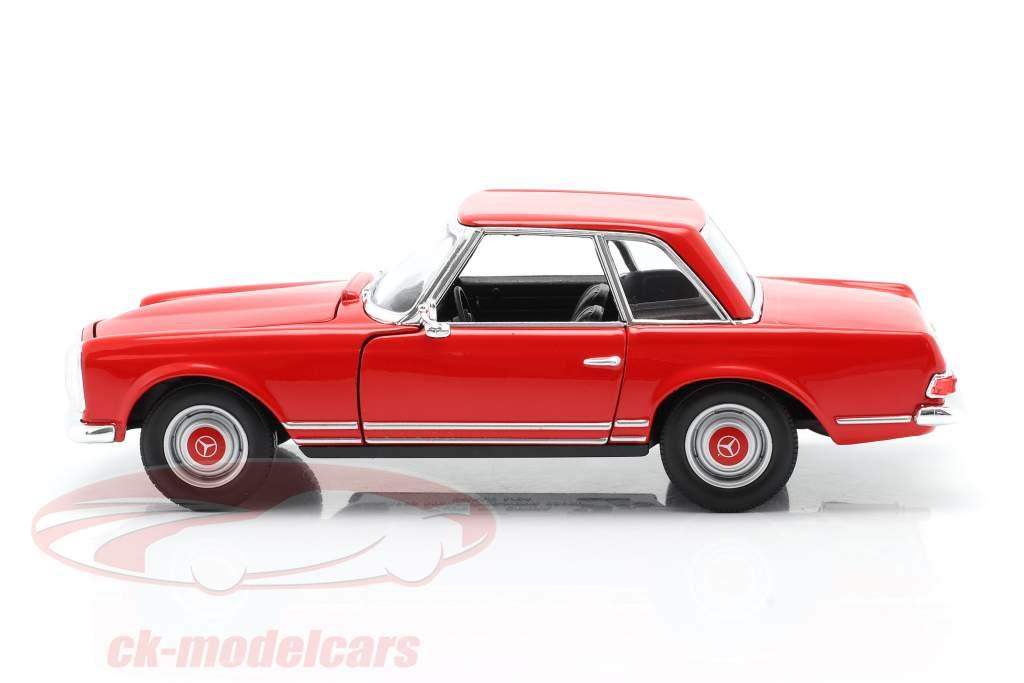 Mercedes-Benz 230 SL (W113) Hardtop Bouwjaar 1963 rood 1:24 Welly