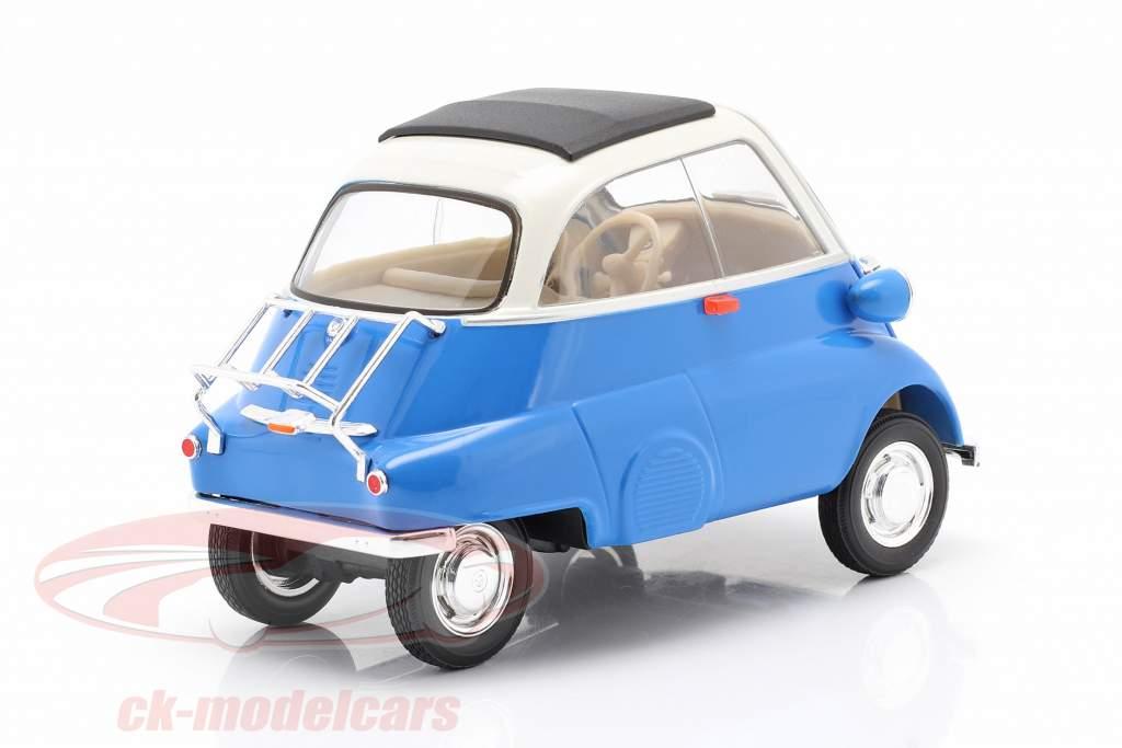 BMW Isetta 250 Bouwjaar 1959 blauw / Wit 1:18 Welly