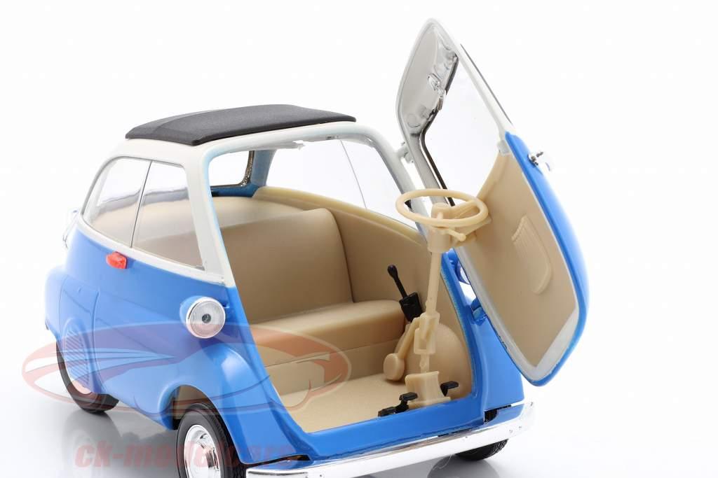 BMW Isetta 250 Anno di costruzione 1959 blu / bianca 1:18 Welly