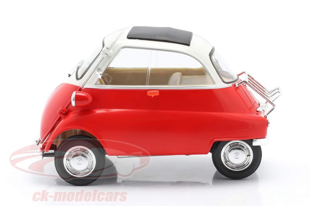 BMW Isetta 250 Ano de construção 1959 vermelho / Branco 1:18 Welly