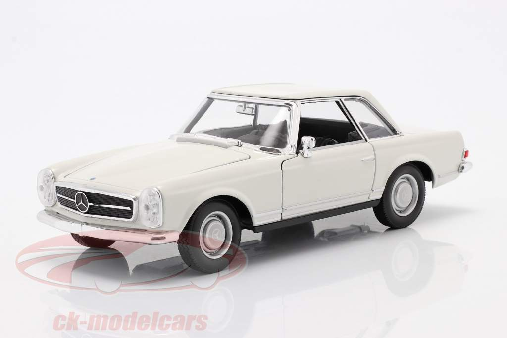 Mercedes-Benz 230 SL (W113) Hardtop year 1963 white 1:24 Welly