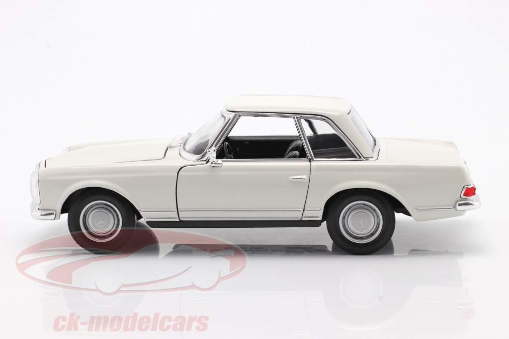 Mercedes-Benz 230 SL (W113) Hardtop Bouwjaar 1963 Wit 1:24 Welly