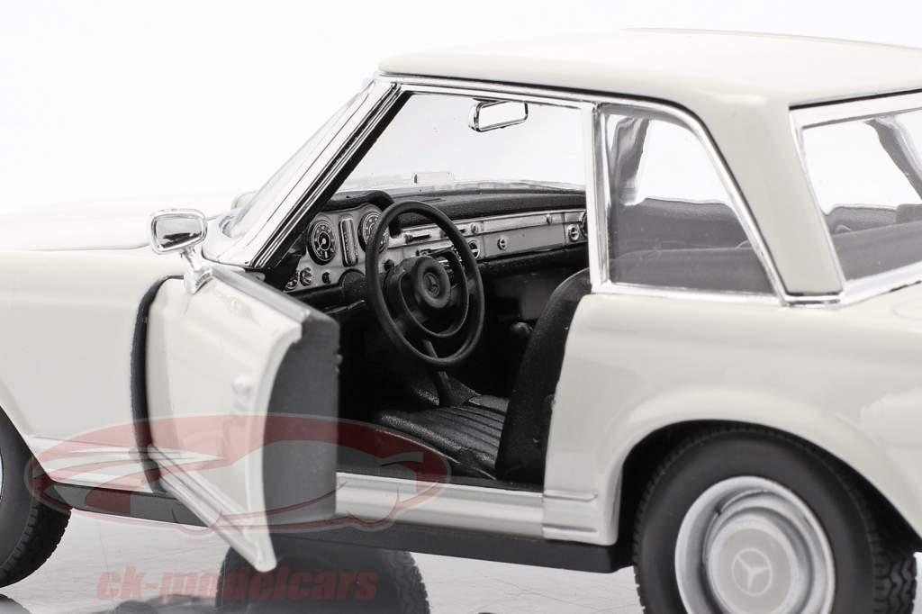 Mercedes-Benz 230 SL (W113) Hardtop Baujahr 1963 weiß 1:24 Welly