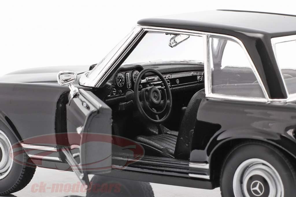 Mercedes-Benz 230 SL (W113) Hardtop Anno di costruzione 1963 nero 1:24 Welly