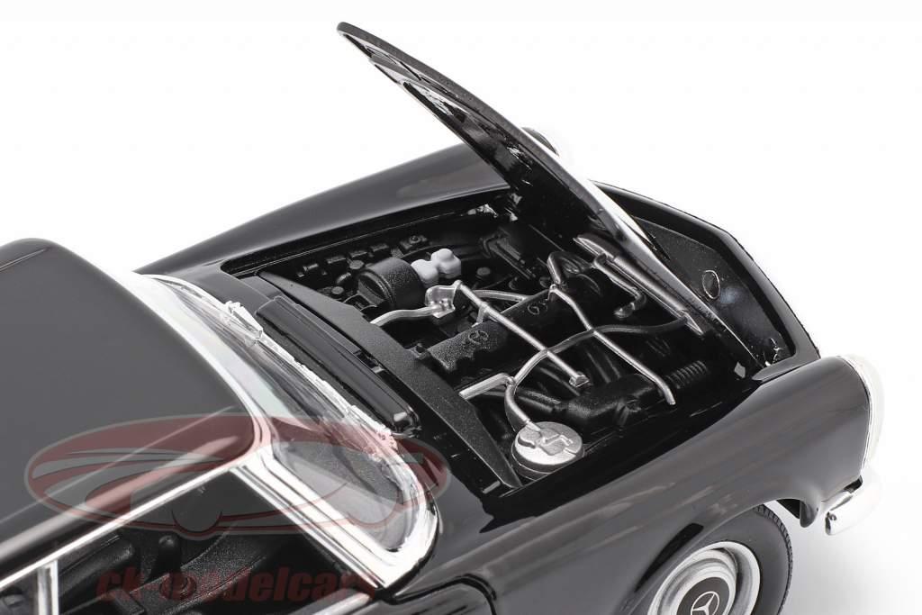 Mercedes-Benz 230 SL (W113) Hardtop Año de construcción 1963 negro 1:24 Welly