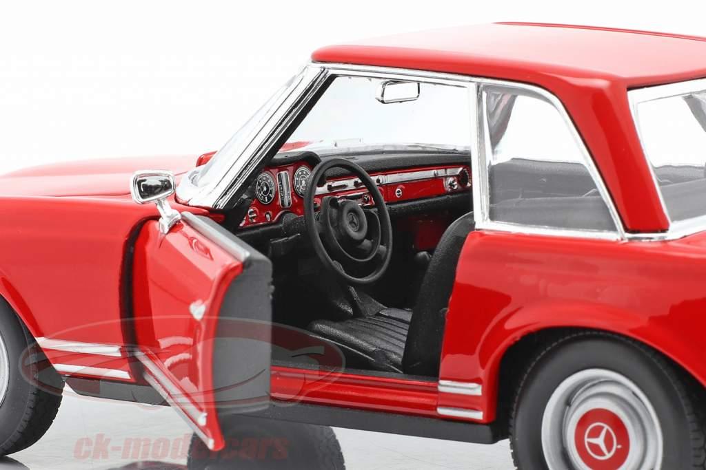 Mercedes-Benz 230 SL (W113) Hardtop Byggeår 1963 rød 1:24 Welly