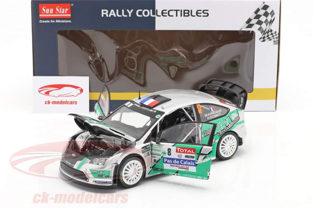 Ford Focus RS WRC #8 4th Rallye du Touquet 2012 Beaubelique, Hugonnot 1:18 SunStar