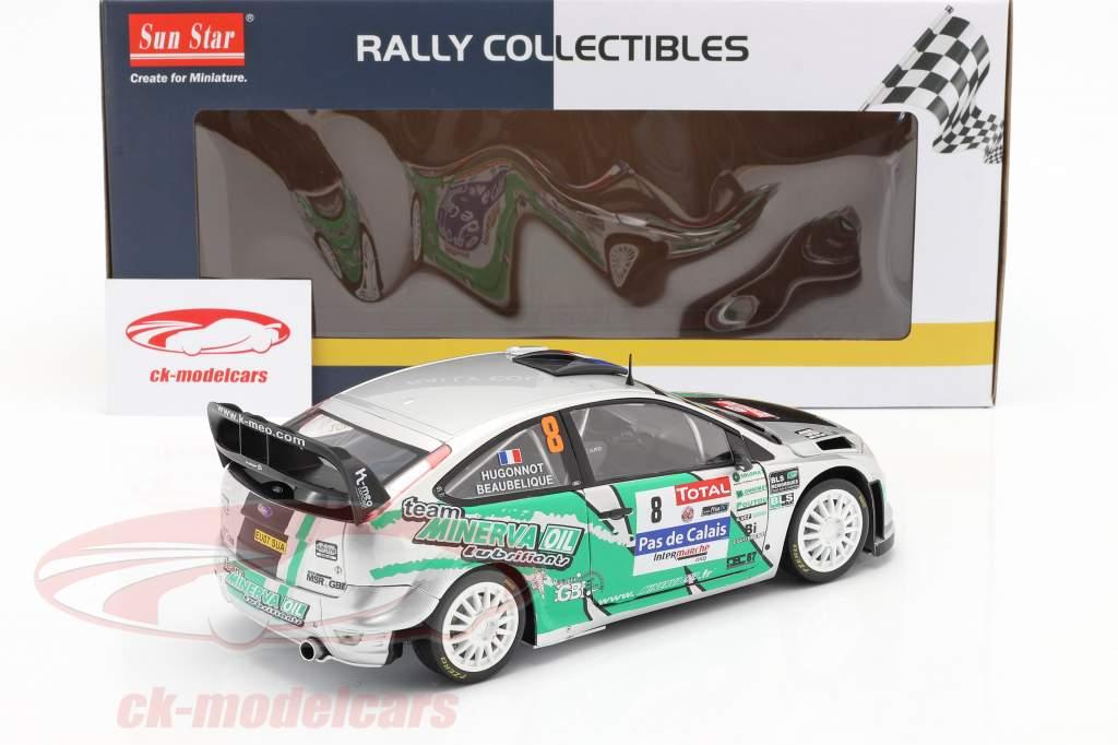 Ford Focus RS WRC #8 4. plads Rallye du Touquet 2012 Beaubelique, Hugonnot 1:18 SunStar