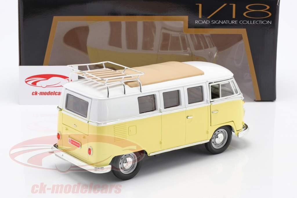 Volkswagen VW T1 Microbus Camping Año de construcción 1962 amarillo / Blanco 1:18 Lucky DieCast