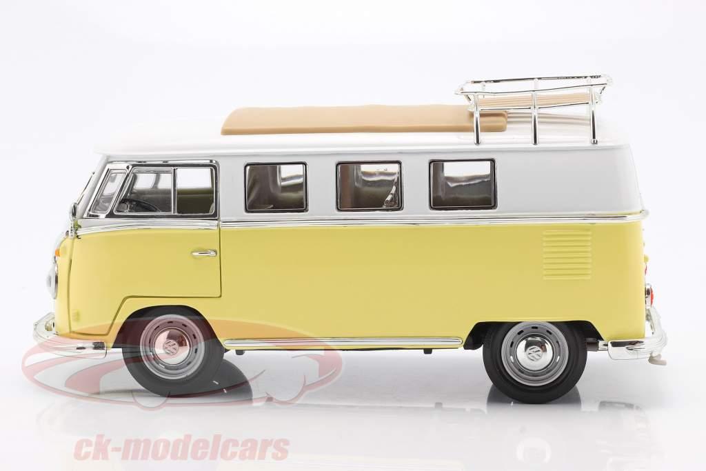 Volkswagen VW T1 Microbus Camping Baujahr 1962 gelb / weiß 1:18 Lucky DieCast