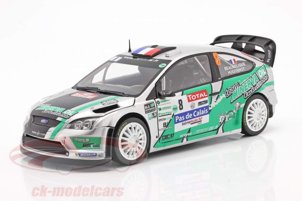 Ford Focus RS WRC #8 Cuarto Rallye du Touquet 2012 Beaubelique, Hugonnot 1:18 SunStar