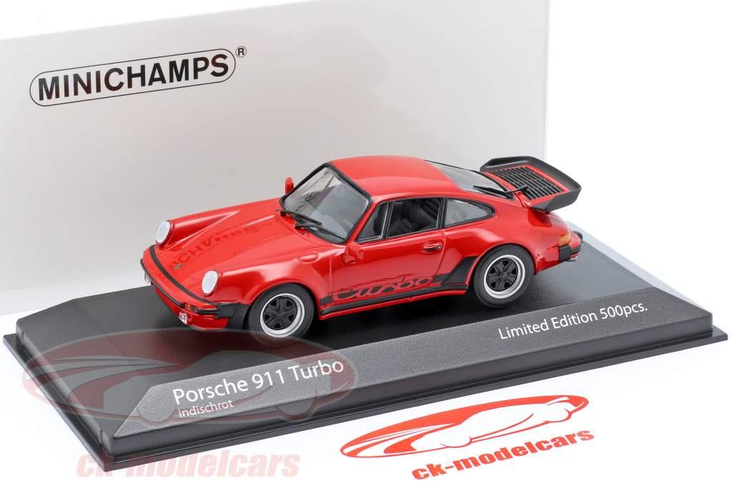 Porsche 911 (930) Turbo 3.3 Bouwjaar 1979 bewakers rood 1:43 Minichamps