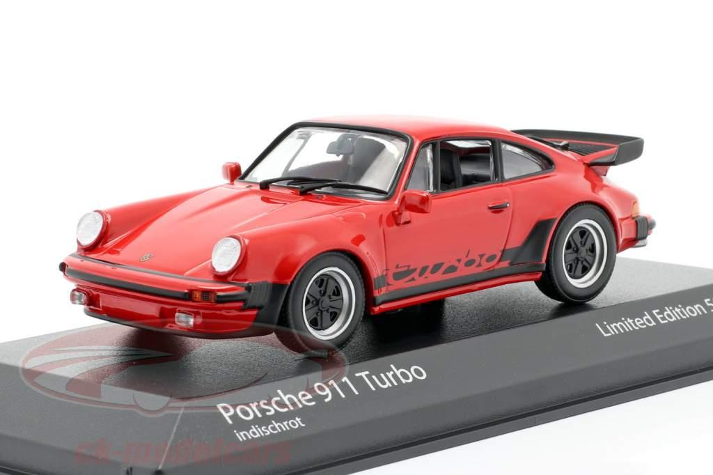 Porsche 911 (930) Turbo 3.3 Anno di costruzione 1979 guardie ✔ rosso 1:43 Minichamps