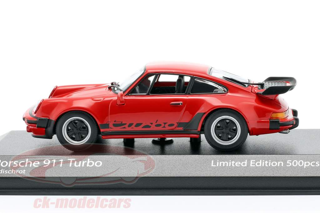 Porsche 911 (930) Turbo 3.3 year 1979 guards red 1:43 Minichamps