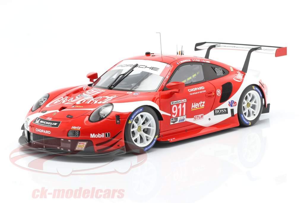 Porsche 911 RSR #911 Coca Cola IMSA 冠军 2019 Petit LeMans 1:18 Spark