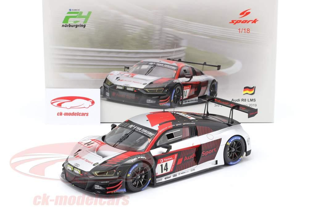 Audi R8 LMS #14 3e 24h Nürburgring 2019 Audi Sport Team Car Collection 1:18 Spark