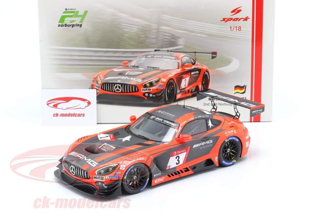 Mercedes-Benz AMG GT3 #3 2do 24h Nürburgring 2019 Team Black Falcon 1:18 Spark