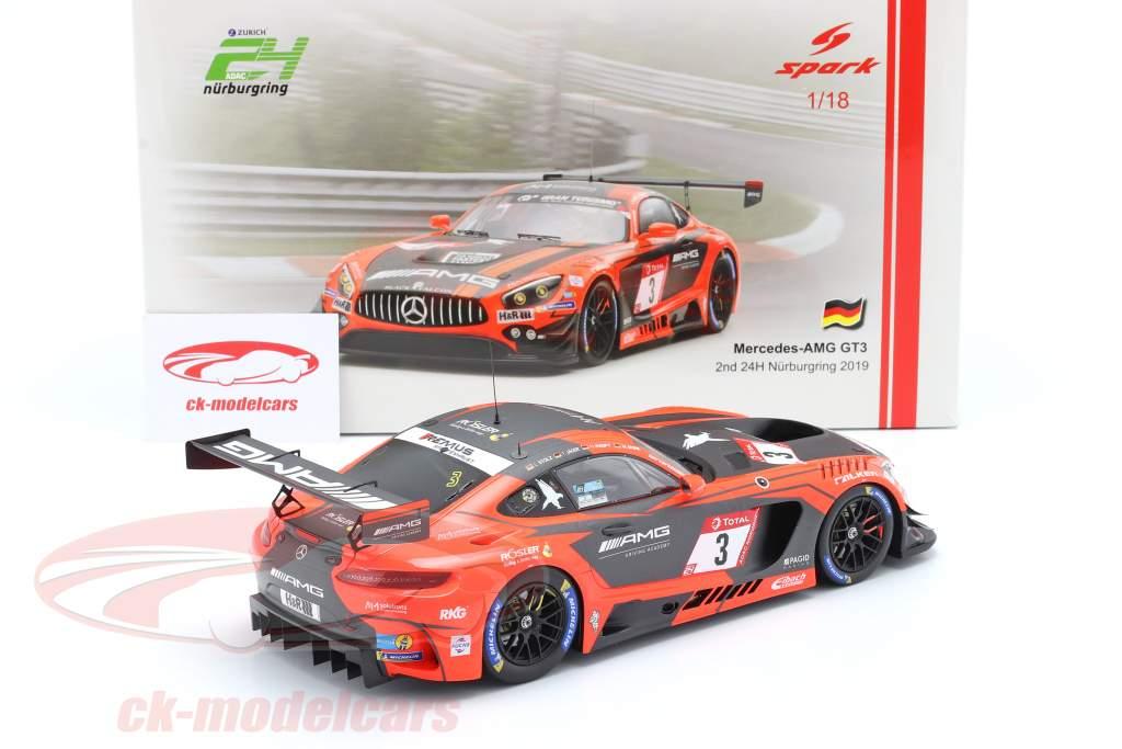 Mercedes-Benz AMG GT3 #3 2e 24h Nürburgring 2019 Team Black Falcon 1:18 Spark