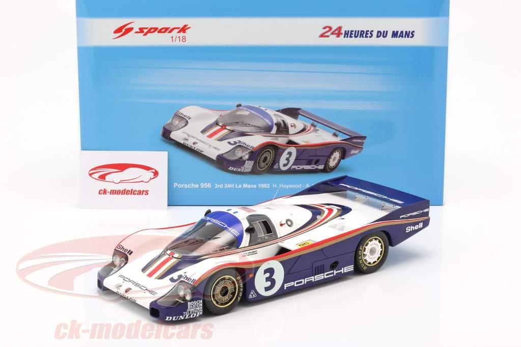 Porsche 956 #3 3e 24h LeMans 1982 Holbert, Haywood, Barth 1:18 Spark
