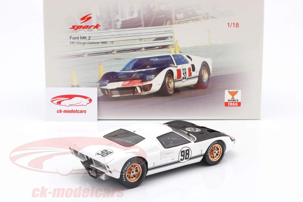 Ford MK II #98 vincitore 24h Daytona 1966 Miles, Ruby 1:18 Spark